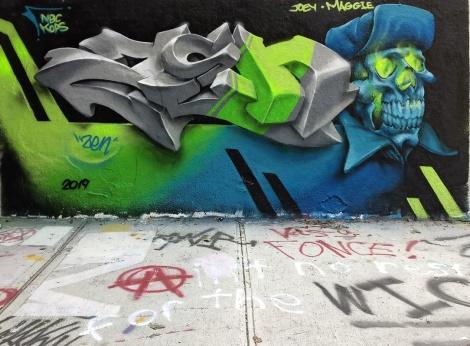 ohnny Crap at the Rouen legal graffiti wall