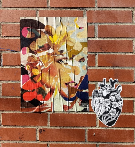 poster by Madame Gilles and paste-up by Laurence Bélanger