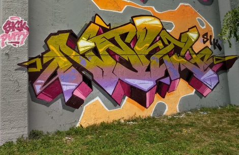Narc at the Lachine legal graffiti wall