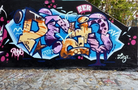 Peyo at the Rouen legal graffiti wall