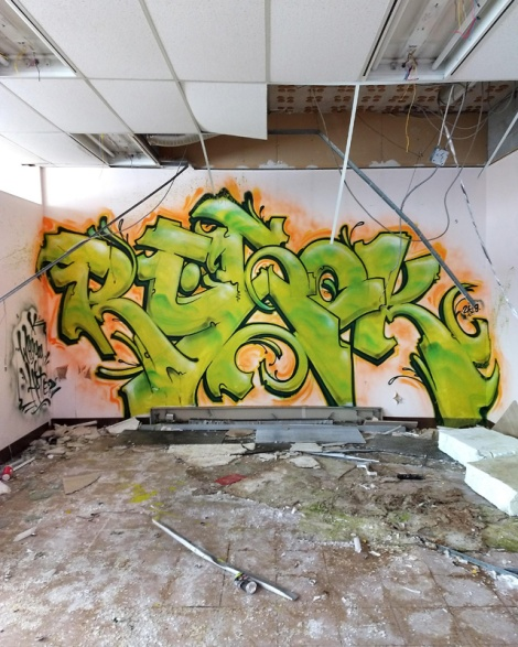 Resok in an abandoned building