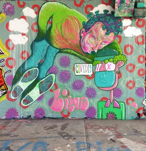 Omar Bernal and Lino collaboration at the Rouen legal graffiti wall