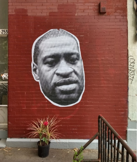 wheatpaste of George Floyd by an unidentified artist