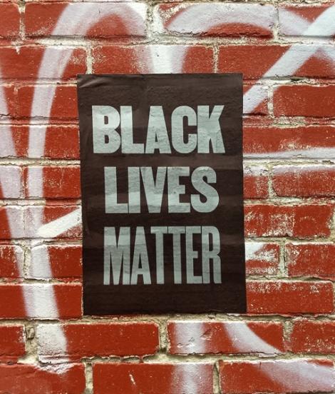 Black Lives Matter poster, unidentified artist