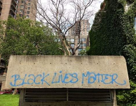 Black Lives Matter graffiti