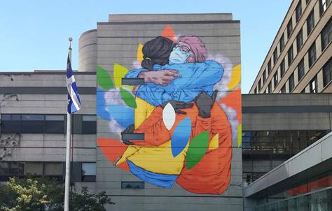 Covid in Montreal urban art