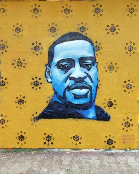 Jenna MTL and Tasia Valliant tribute to George Floyd found at the PSC legal graffiti wall