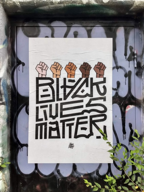 Black Lives Matter poster by Louis Letters