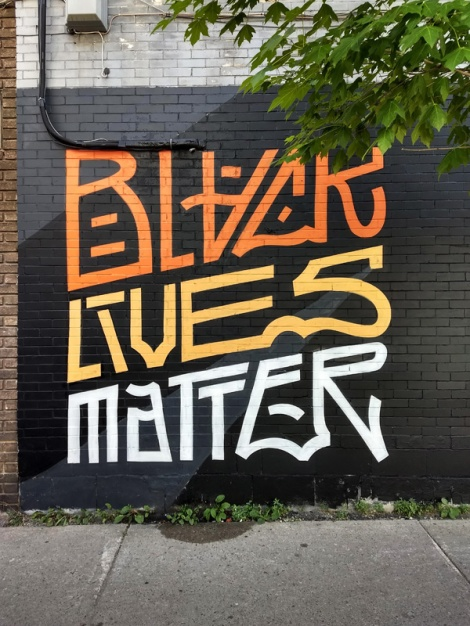 Black Lives Matter by Louis Letters, detail from a longer mural