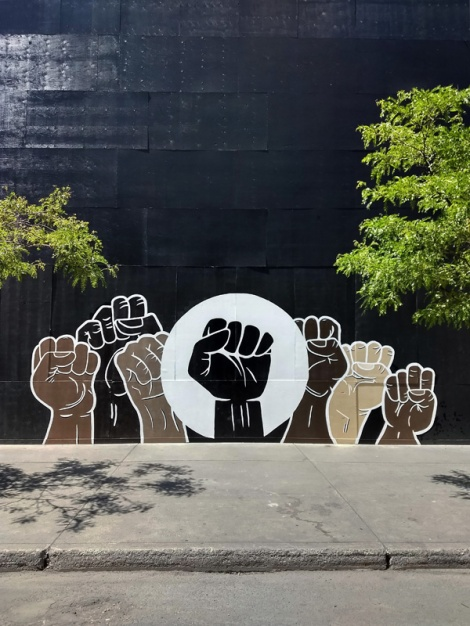 Black Lives Matter mural by a collective of anonymous artists