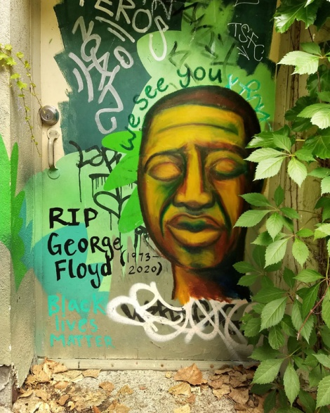 tribute to George Floyd by Sloast
