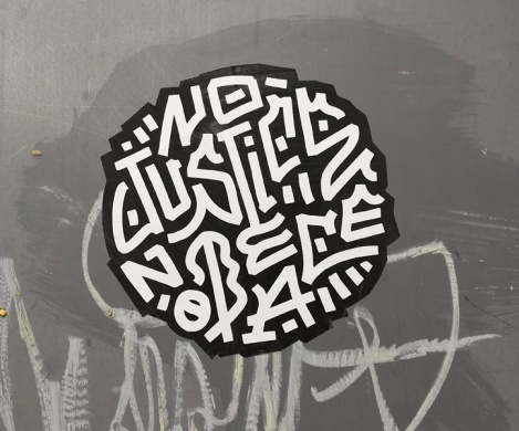 No Justice No Peace sticker by Louis Letters