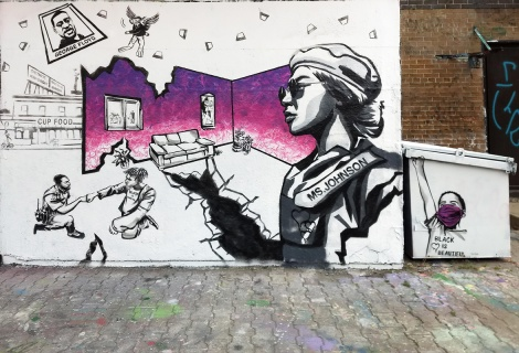 Patman at the PSC legal graffiti wall