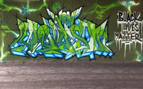 Verso at the Papineau legal graffiti wall