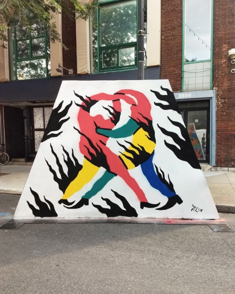 Félix Arsenault's contribution to the 2020 edition of Mural Festival
