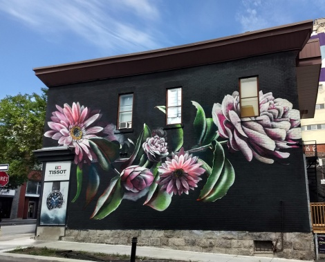 Jeremy Shantz doing a piece designed by FvckRender, for the 2020 edition of Mural Festival