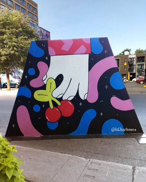 La Charbonne's contribution to the 2020 edition of Mural Festival