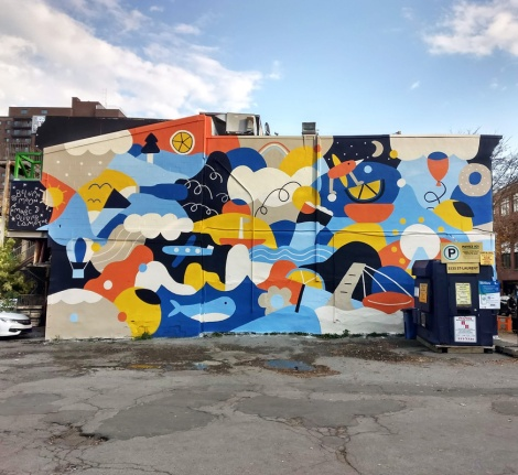 Marc-Olivier Lamothe's contribution to the 2020 edition of Mural Festival
