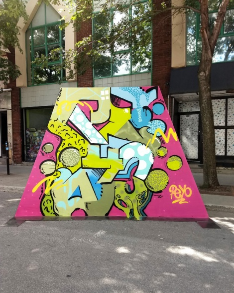 Peyo's contribution to the 2020 edition of Mural Festival
