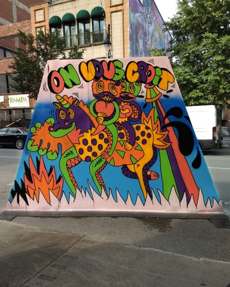 le Renard Fou's contribution to the 2020 edition of Mural Festival
