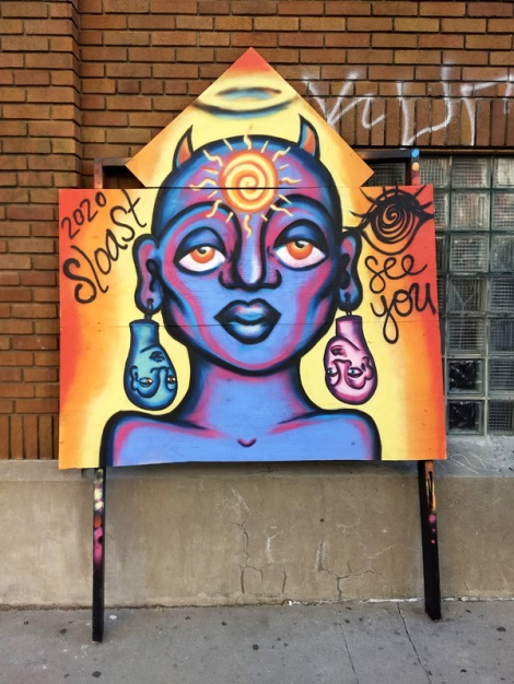 Sloast's contribution to the 2020 edition of Mural Festival