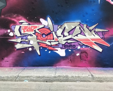 Scien's name piece on the 123 Klan wall for the 2020 edition of Under Pressure