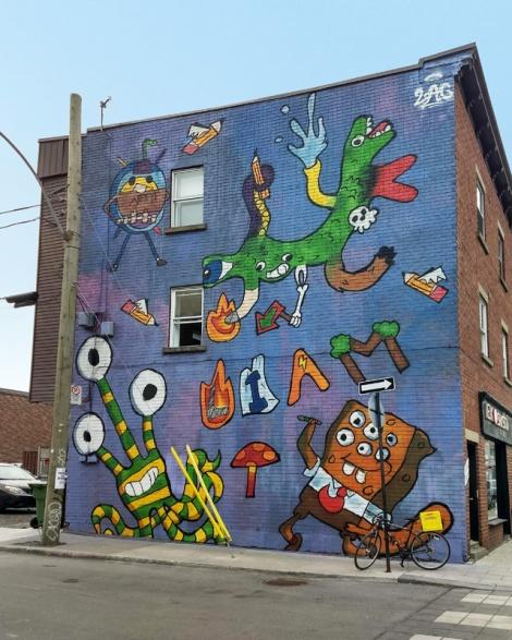 Awie mural in St-Henri