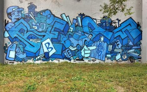 Beaf at the Lachine graffiti walls