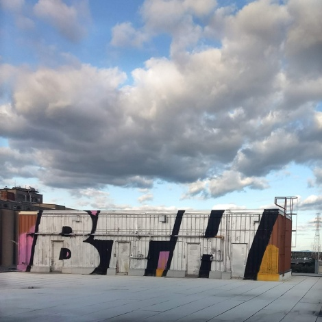 The BTH crew on the roof of an abandoned building