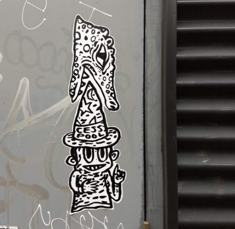 small paste-up from Cess Pool