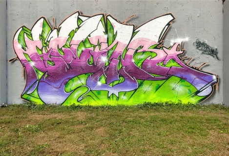 Ekler at the Lachine graffiti walls