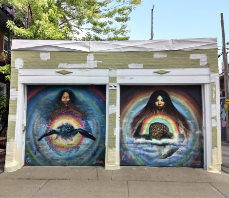 pair of garage doors by Emily Read in Villeray
