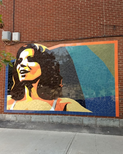 a tile mural from Gascon in Hochelaga