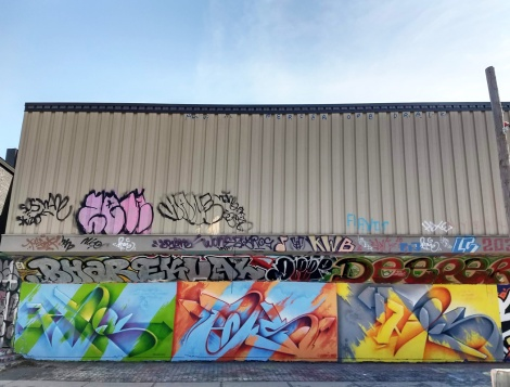 triple dose of Haks at the PSC legal graffiti wall