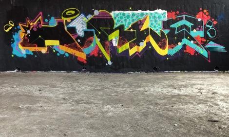 Hurl at the Papineau legal graffiti wall