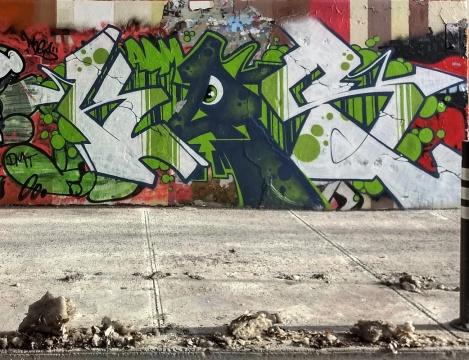Kes at the Rouen legal graffiti tunnel