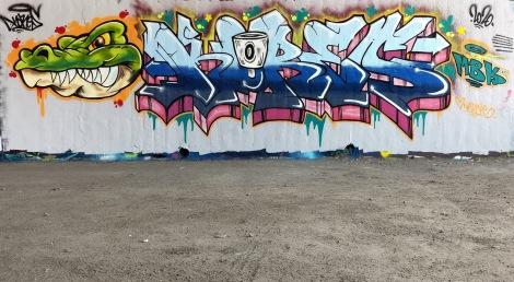 Kores at the Papineau legal graffiti wall