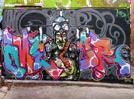 Meor in graffiti alley