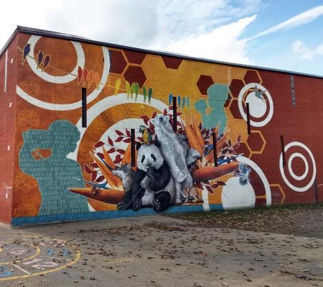Sophie Wilkins mural in Montreal Nord