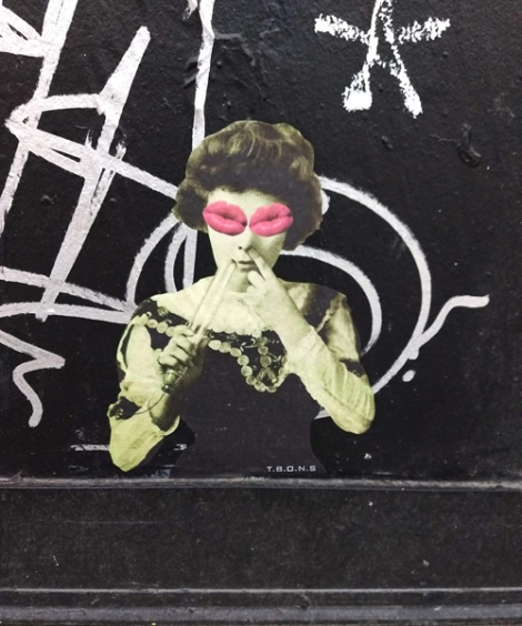 a small paste-up from T.B.O.N.S